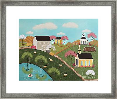 Whispering Spring Framed Print by Mary Charles