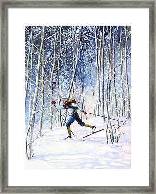 Whispering Tracks Framed Print by Hanne Lore Koehler