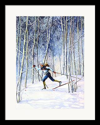 Ski Art Framed Prints