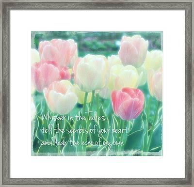 Whispering Tulips Framed Print