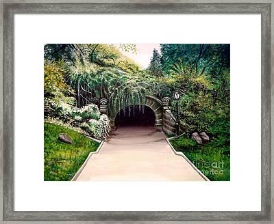 Whispering Tunnel Framed Print by Elizabeth Robinette Tyndall
