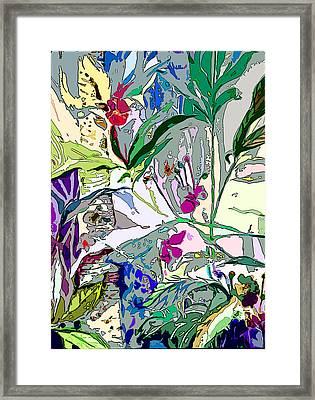 Whispering Wind Flowers Framed Print by Mindy Newman