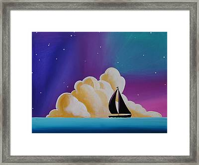 Whispers At Sea Framed Print by Cindy Thornton