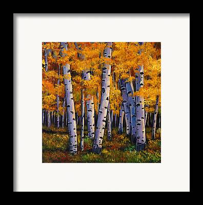 Autumn Foliage Framed Prints