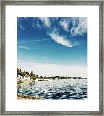 Whispy Northwest Days Framed Print