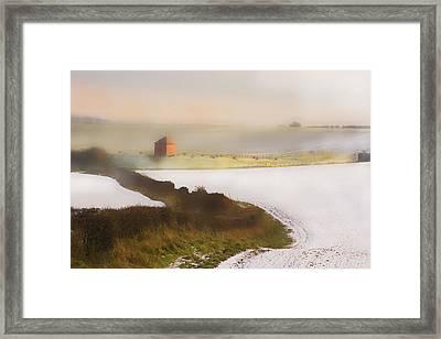 Whispy Winter Landscape Framed Print by Aleck Rich Seddon