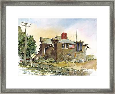 Whistle Stop  Framed Print by Richard Jansen