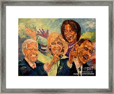 Whistle Stop Tour Usa 2008 Framed Print by Keith OBrien Simms