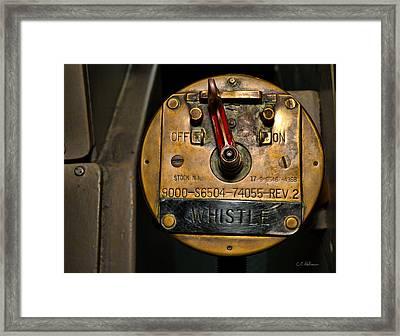 Whistle Switch Framed Print