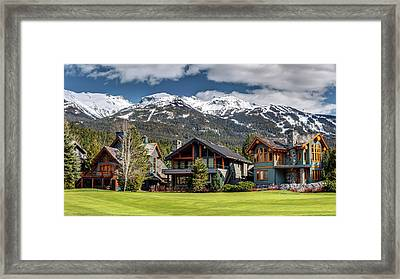 Framed Print featuring the photograph Whistler Luxury Homes On Nicklaus North  by Pierre Leclerc Photography