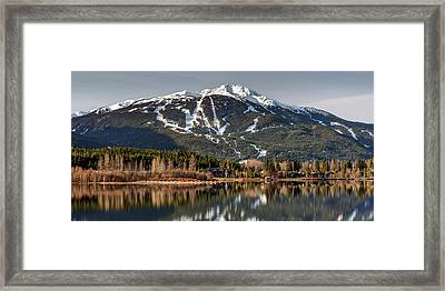 Framed Print featuring the photograph Whistler Mountain Reflection Panorama by Pierre Leclerc Photography
