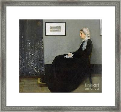 Whistlers Mother Framed Print by James Abbott McNeill Whistler