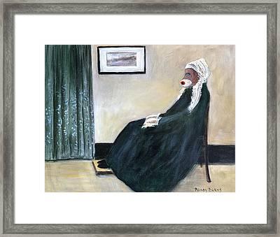 Whistlin Mother Framed Print