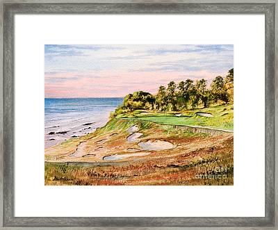 Framed Print featuring the painting Whistling Straits Golf Course 17th Hole by Bill Holkham