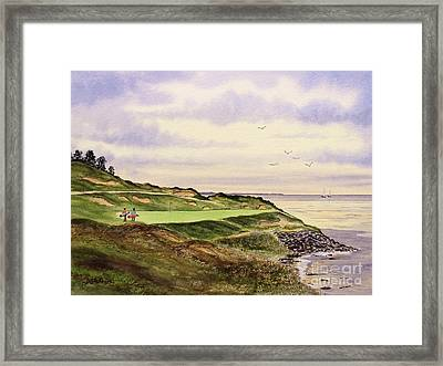 Whistling Straits Golf Course Hole 7 Framed Print by Bill Holkham