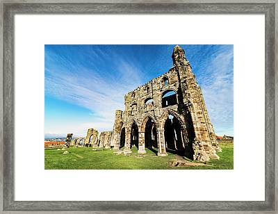 Framed Print featuring the photograph Whitby Abbey by Anthony Baatz