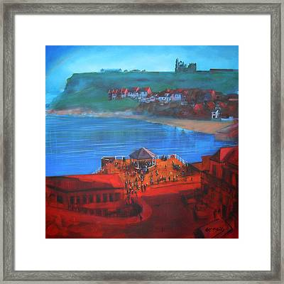 Whitby Bandstand And Smokehouses Framed Print by Neil McBride