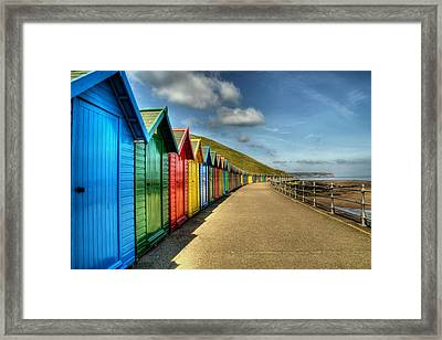 Whitby Beach Huts Framed Print