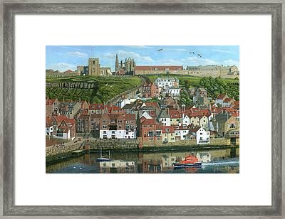 Whitby Harbor North Yorkshire  Framed Print by Richard Harpum