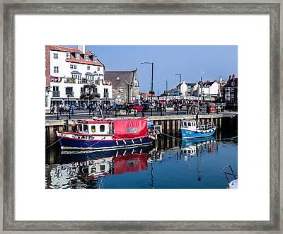 Whitby Harbor, United Kingdom Framed Print