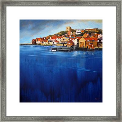 Whitby High Tide Framed Print by Neil McBride