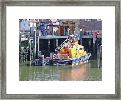 Whitby Lifeboat Framed Print by Rod Johnson