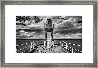 Whitby Pier Framed Print by Gillian Dernie