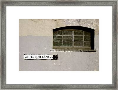 White    Maybe Not Framed Print by Jez C Self