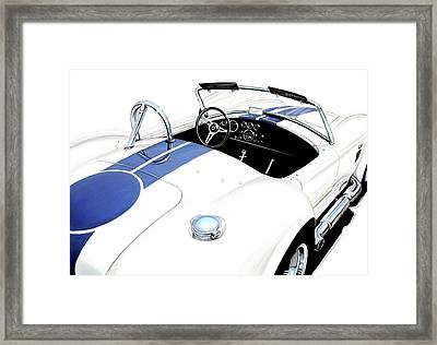 White Ac Cobra Framed Print by David Kyte