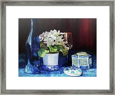 White African Violets Framed Print by Marlene Book