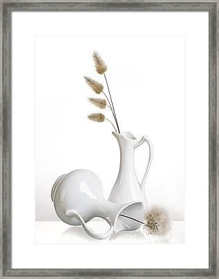 White Framed Print by Aida Ianeva