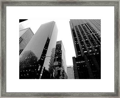 White And Black Inspiration  Framed Print