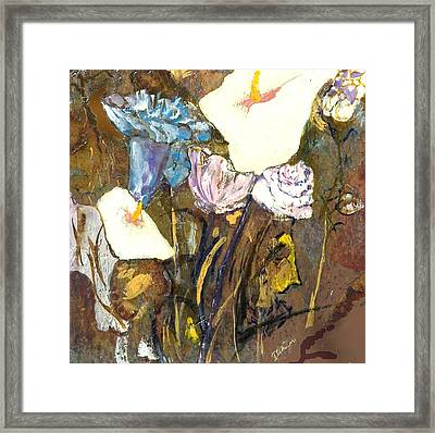 White And Blue  Framed Print by Danna Whitney