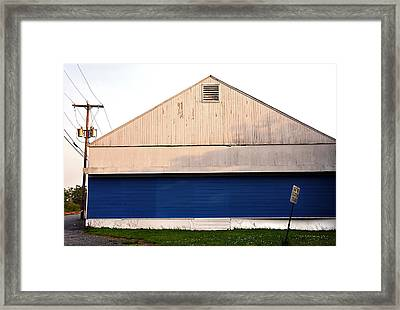 Framed Print featuring the photograph White And Blue  by JoAnn Lense