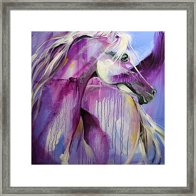 White Arabian Nights Framed Print by Laurie Pace