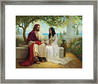 Framed Print featuring the painting White As Snow by Greg Olsen