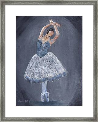 Framed Print featuring the painting White Ballerina by Jamie Frier