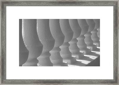 White Balustrades Framed Print by David Lee Thompson