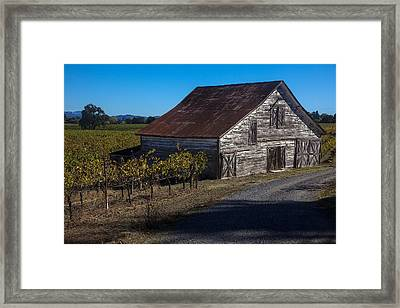 White Barn Framed Print by Garry Gay