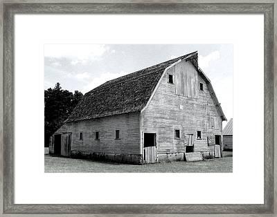 White Barn Framed Print by Julie Hamilton