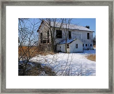 White Barn Framed Print by Scott Kingery