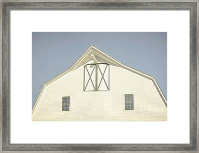 White Barn South Woodstock Vermont Framed Print by Edward Fielding
