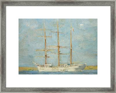 White Barque Framed Print