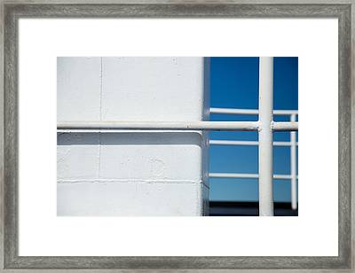 White Bars Framed Print by Karol Livote