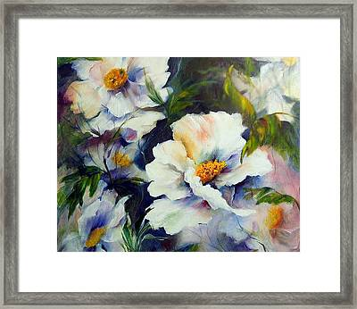White Beauties Framed Print by Elaine Bailey