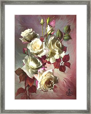 White Beauty Framed Print by Ron Chambers