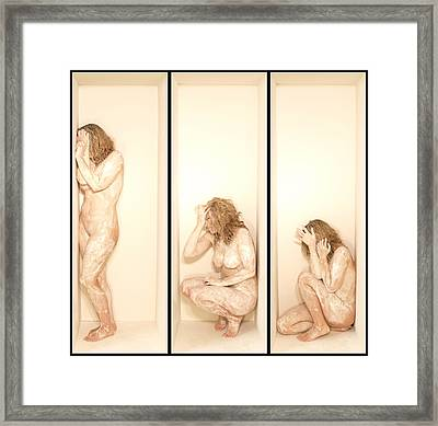 White Box Triptych Framed Print