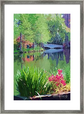 White Bridge Framed Print