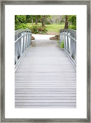 Framed Print featuring the photograph White Bridge by Raphael Lopez