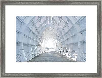 White Bridge Framed Print by Svetlana Sewell